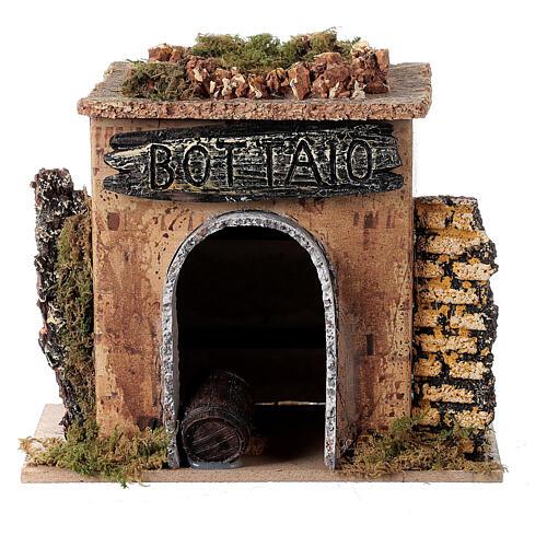Magasin tonnelier en miniature crèche 15x10 cm 1