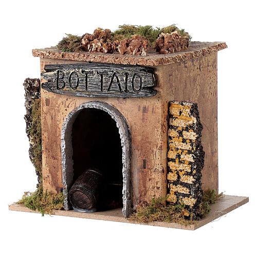 Magasin tonnelier en miniature crèche 15x10 cm 2