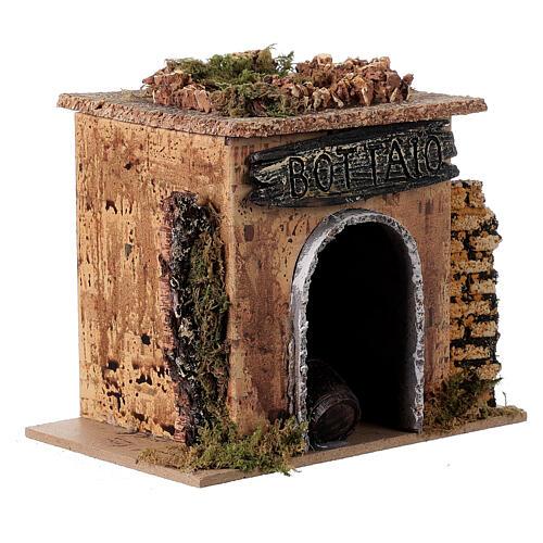 Magasin tonnelier en miniature crèche 15x10 cm 3