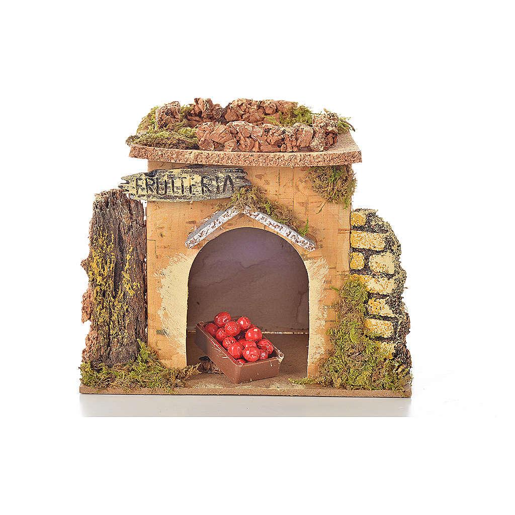 Magasin fruits en miniature crèche 15x10 cm 4