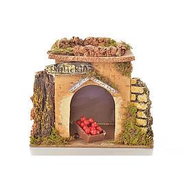 Magasin fruits en miniature crèche 15x10 cm s4