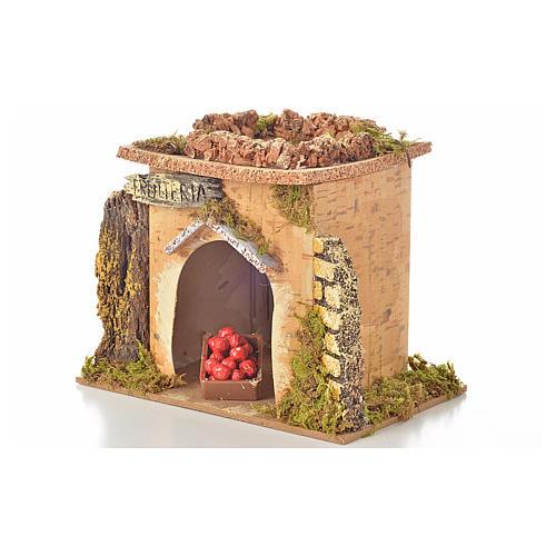 Magasin fruits en miniature crèche 15x10 cm 3