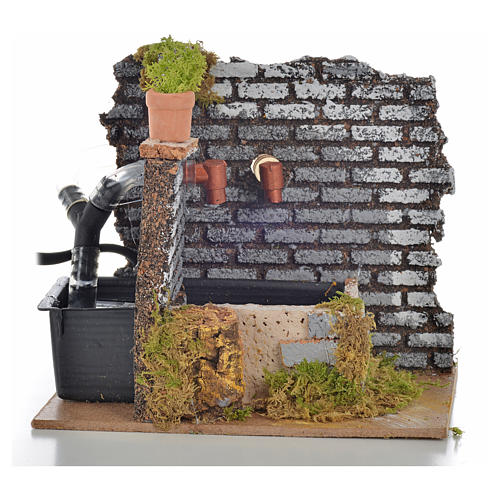 Nativity fountain with 2 streams of water, 15x12x13cm 2