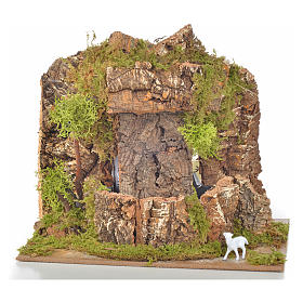 Bridges, streams and fences for Nativity scene: Nativity setting, waterfall measuring 20x14x18cm