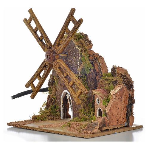 Nativity wind mill with engine 13x10x16cm 3