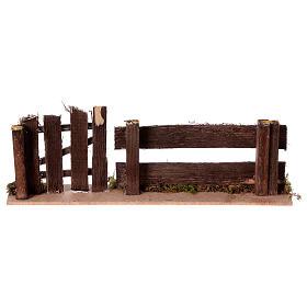 Staccionata con cancello 25x3,5x8 s4