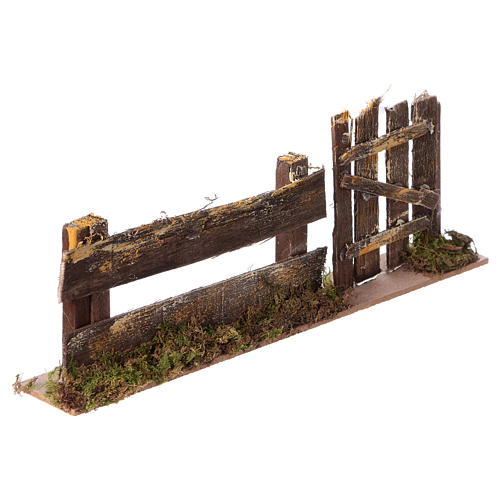 Staccionata con cancello 25x3,5x8 3