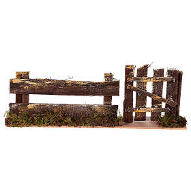 Nativity setting, fence with gate 25x3,5x8cm s1