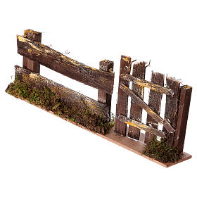 Nativity setting, fence with gate 25x3,5x8cm s2