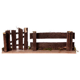 Nativity setting, fence with gate 25x3,5x8cm s4