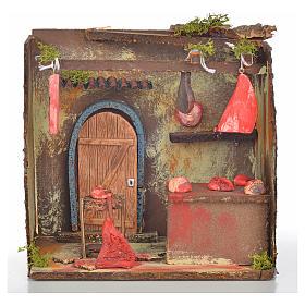 Nativity setting, butcher's workshop 20x14x20cm s1