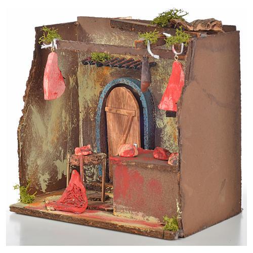 Nativity setting, butcher's workshop 20x14x20cm 3