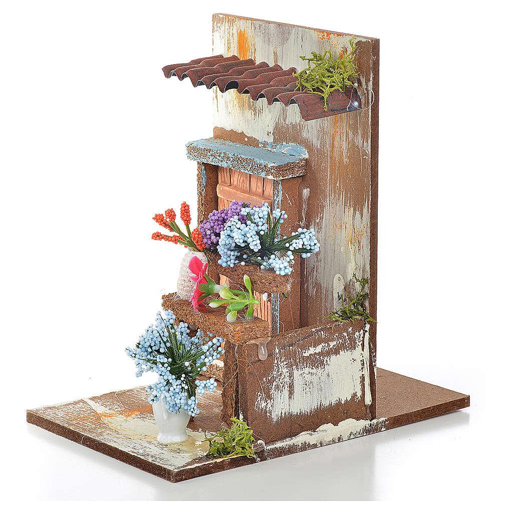 Décor crèche fleuriste 9,5x9,5x15 4