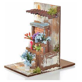Décor crèche fleuriste 9,5x9,5x15 s3