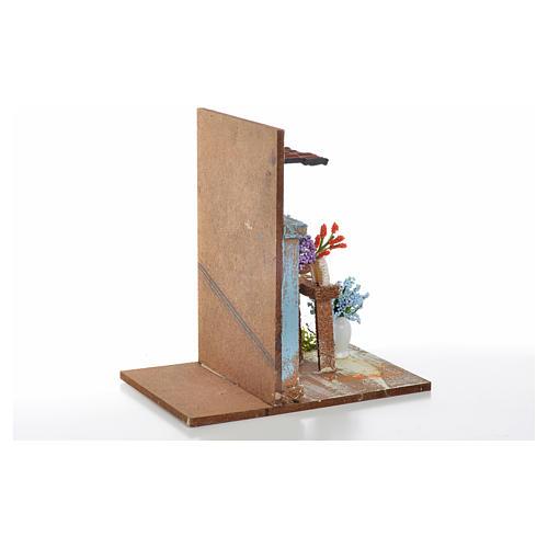 Décor crèche fleuriste 9,5x9,5x15 8