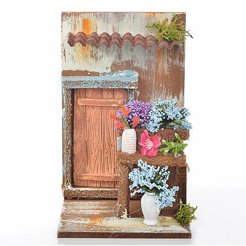 Décor crèche fleuriste 9,5x9,5x15 1