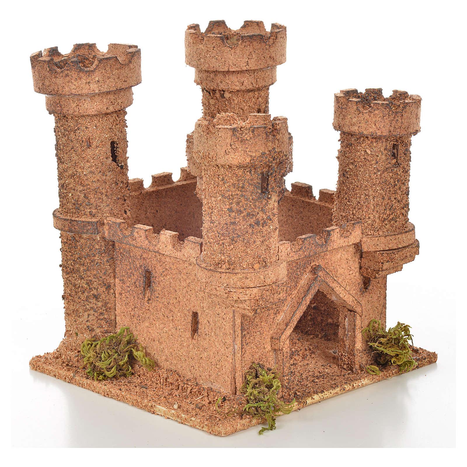Château 5 tours en miniature crèche Napolitaine 14,5x13,5x15 c 4