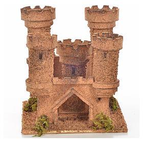 Château 5 tours en miniature crèche Napolitaine 14,5x13,5x15 c s1