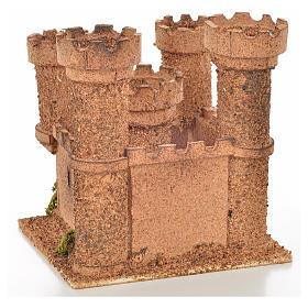 Château 5 tours en miniature crèche Napolitaine 14,5x13,5x15 c s4