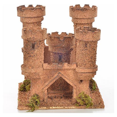 Château 5 tours en miniature crèche Napolitaine 14,5x13,5x15 c 1