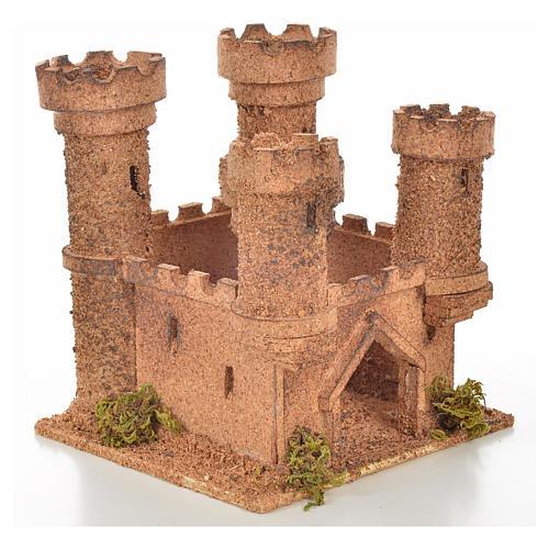 Château 5 tours en miniature crèche Napolitaine 14,5x13,5x15 c 2