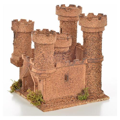 Château 5 tours en miniature crèche Napolitaine 14,5x13,5x15 c 3