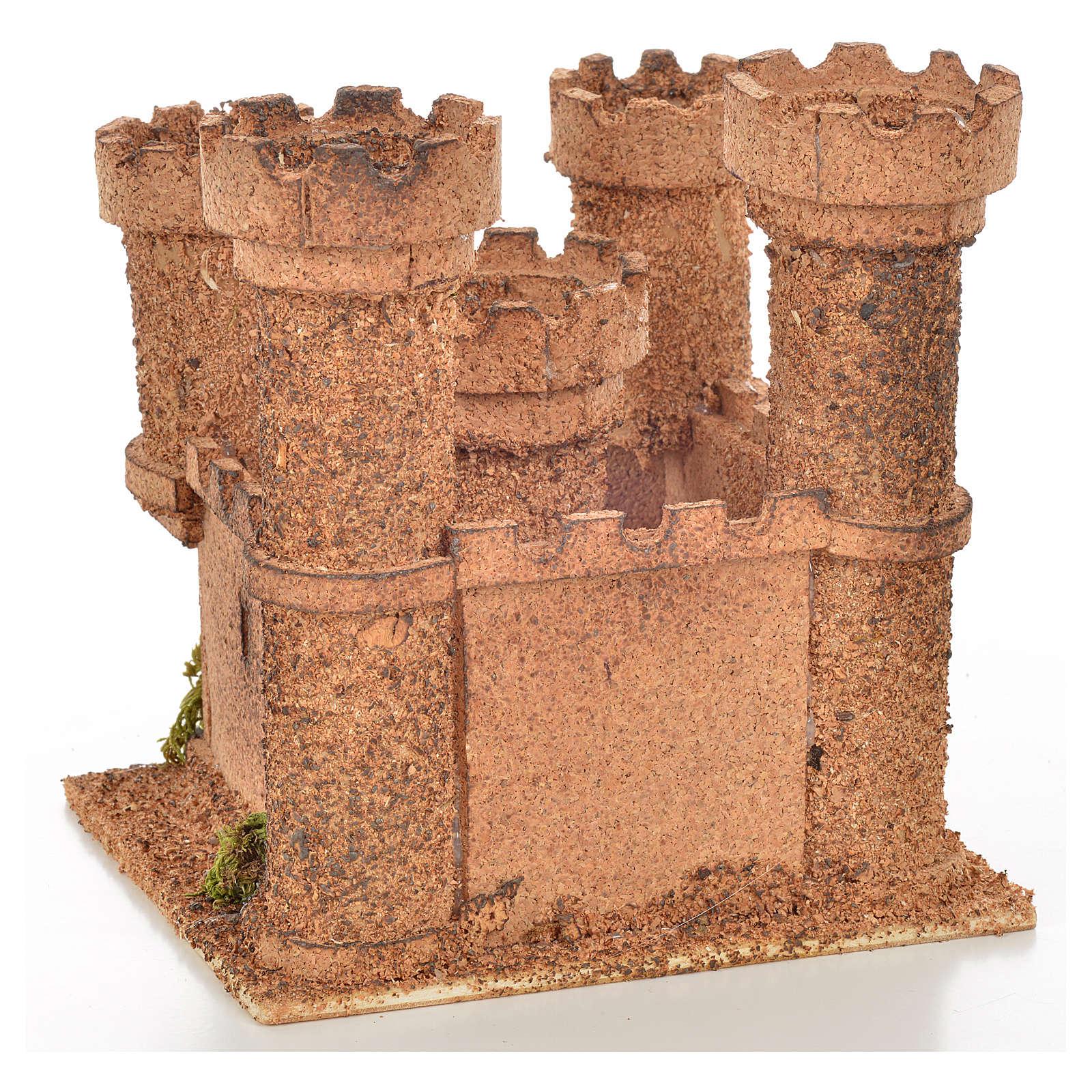 Castello 5 torri 14,5x13,5x h. 15 presepe napoletano 4
