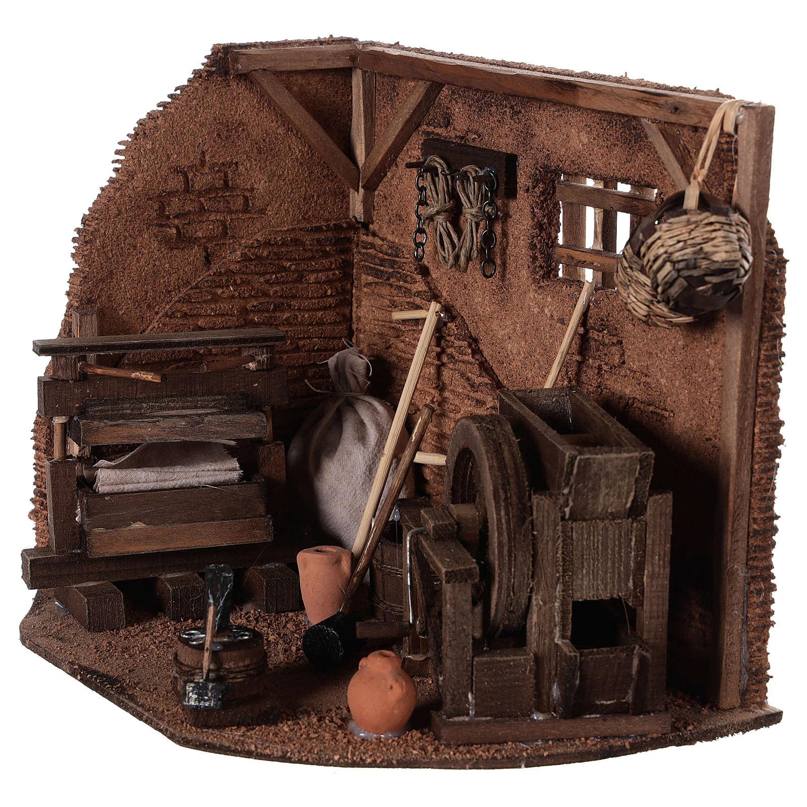 Neapolitan Nativity scene accessory, farmer shop 4