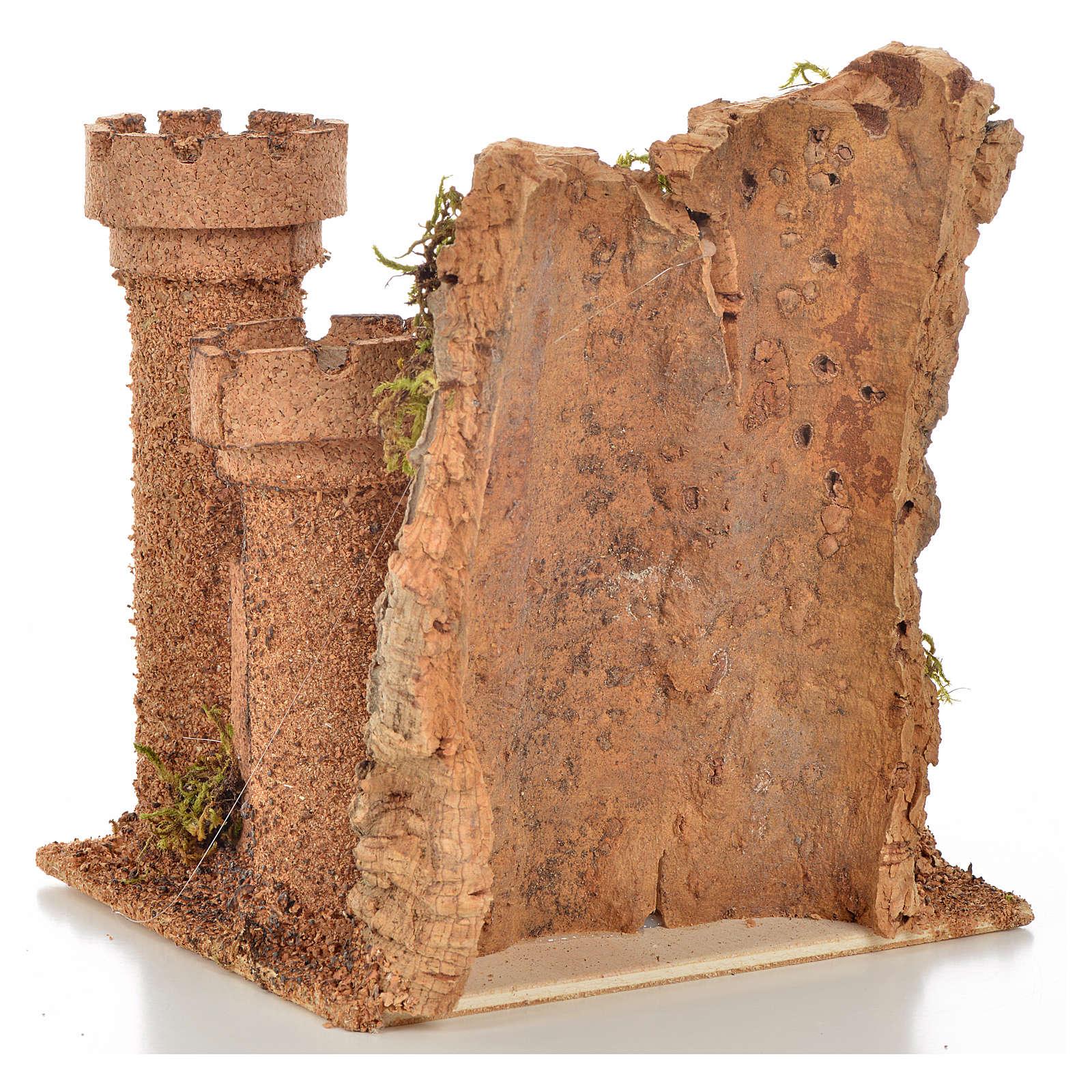 Castillo miniatura belén napolitano 14.5x13.5x15 cm. 4