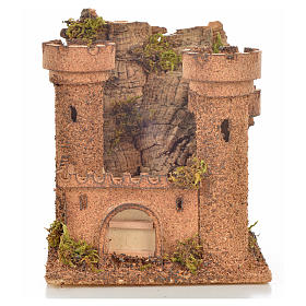 Castillo miniatura belén napolitano 14.5x13.5x15 cm. s1