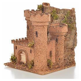 Castillo miniatura belén napolitano 14.5x13.5x15 cm. s3