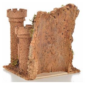 Castillo miniatura belén napolitano 14.5x13.5x15 cm. s4
