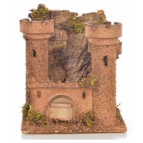 Presépio Napolitano: Castelo miniatura presépio napolitano 14,5x13,5x15 cm