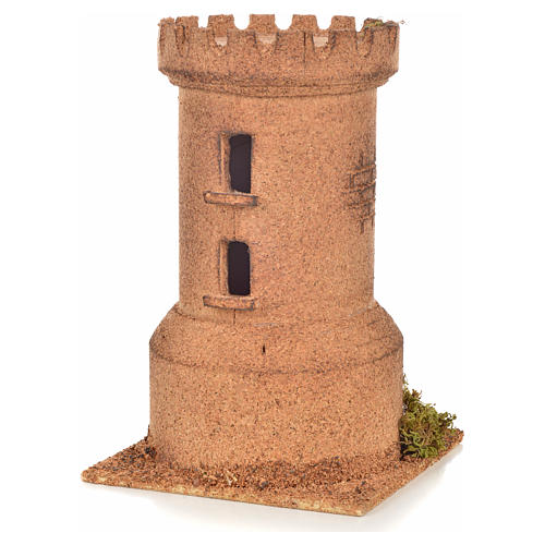 Turm aus Kork neapolitanische Krippe 13x13x20,5 2