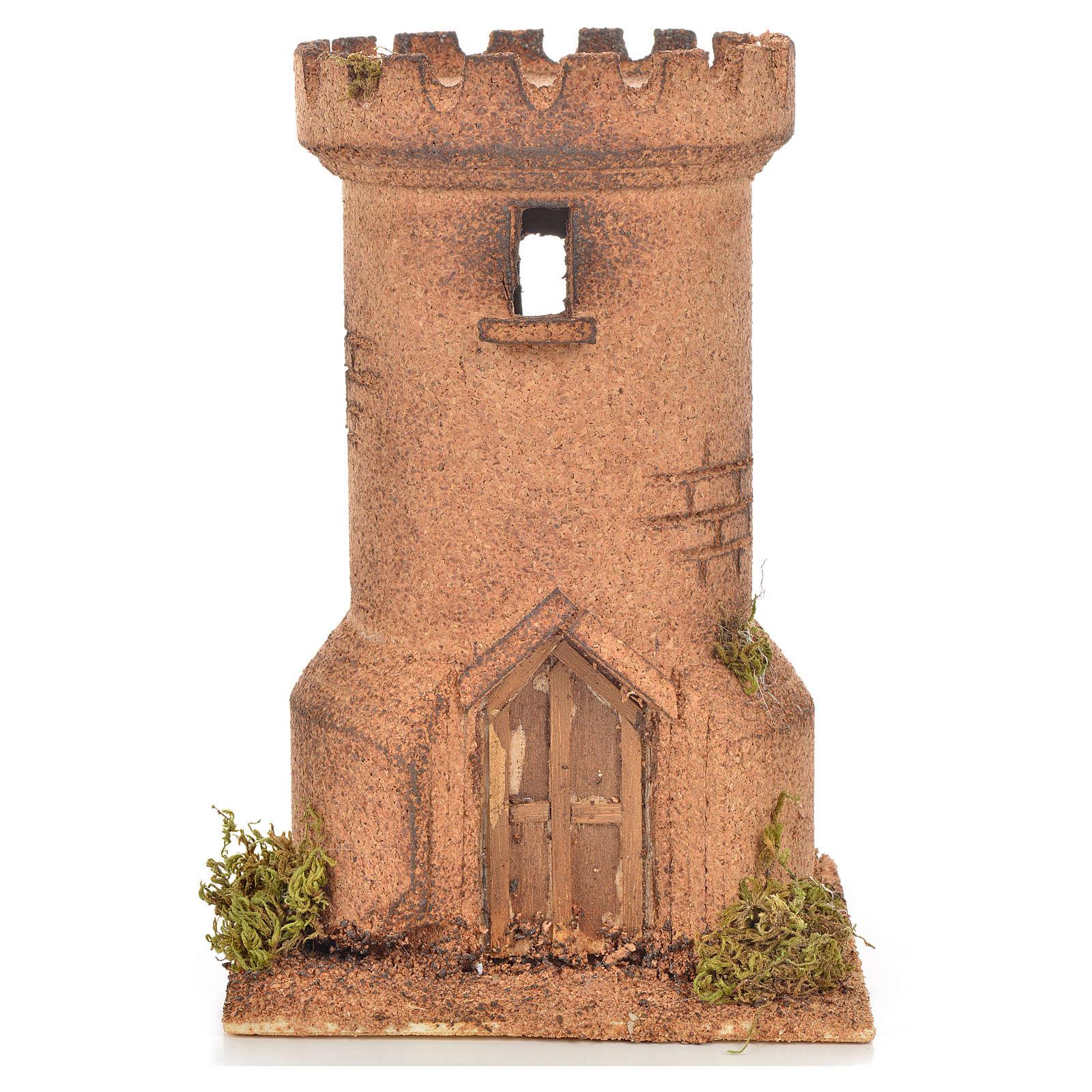 Torre de cortiça presépio napolitano 13x13x20,5 cm 4