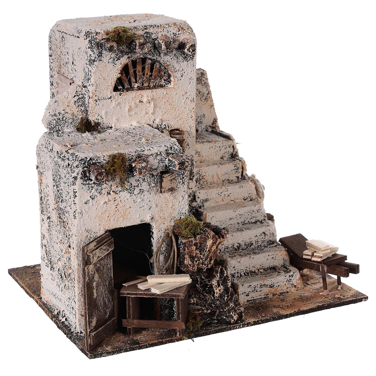 Mini maison arabe 26x22x22 cm crèche Napolitaine 4