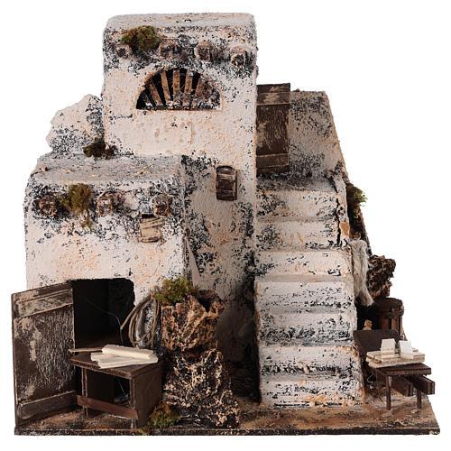 Mini maison arabe 26x22x22 cm crèche Napolitaine 1