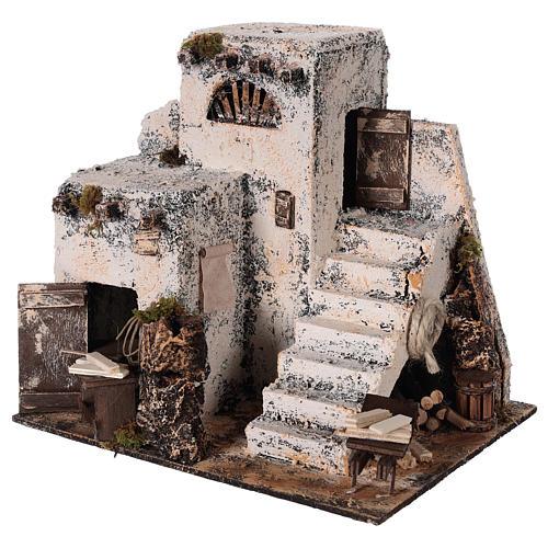 Mini maison arabe 26x22x22 cm crèche Napolitaine 2