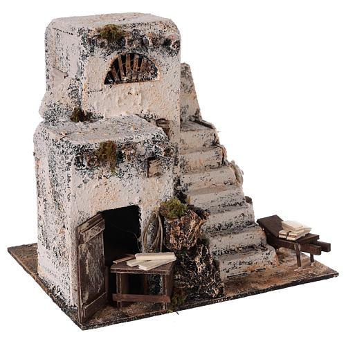 Mini maison arabe 26x22x22 cm crèche Napolitaine 3