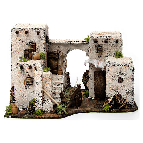 Neapolitan Nativity scene accessory, Arabian house 33x22x21,5cm 1