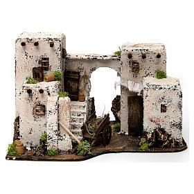 Maison arabe en miniature 33x22x21,5 cm crèche Napolitaine s1