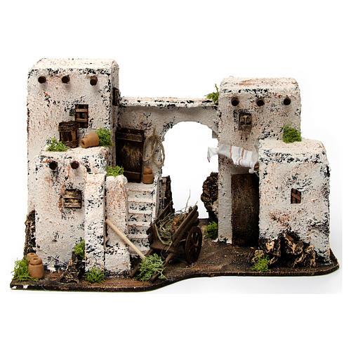 Maison arabe en miniature 33x22x21,5 cm crèche Napolitaine 1