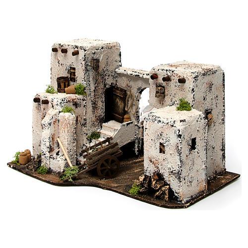 Maison arabe en miniature 33x22x21,5 cm crèche Napolitaine 2