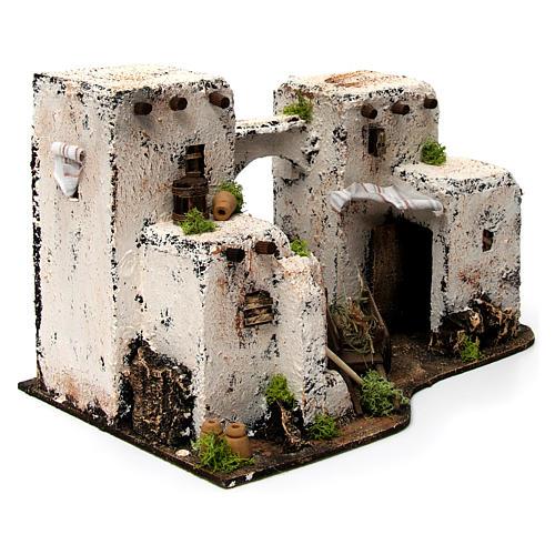 Maison arabe en miniature 33x22x21,5 cm crèche Napolitaine 3