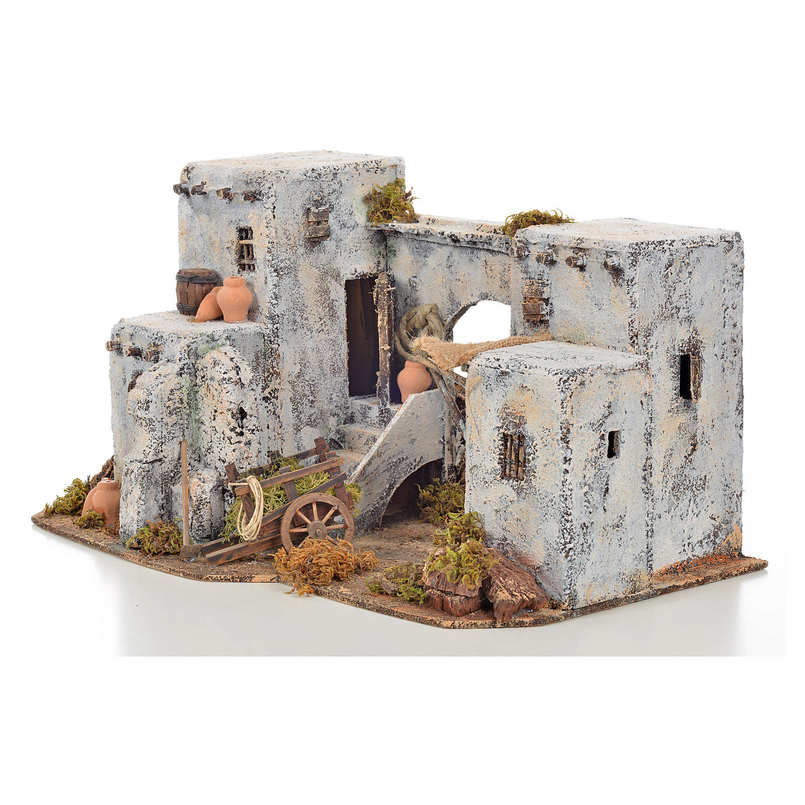Neapolitan Nativity scene accessory, Arabian house 33x22x21,5cm 4