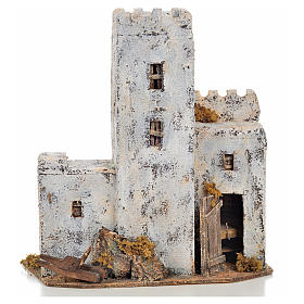 Neapolitan Nativity Scene: Neapolitan Nativity scene accessory, Palestinian house 30cm tall