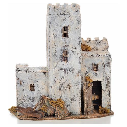 Maison palestinienne en miniature crèche Napolitaine h 30 cm 1