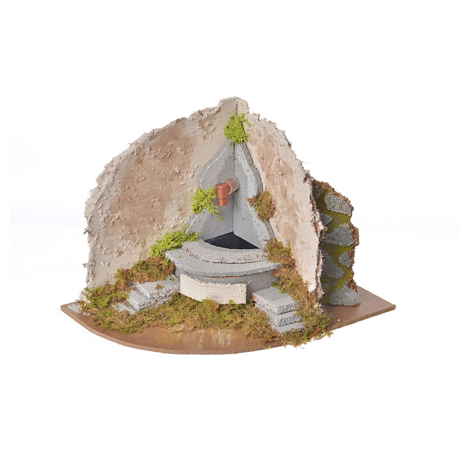Fontaine avec pompe angle crèche 20x14x15 4