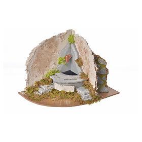 Fontaine avec pompe angle crèche 20x14x15 s3