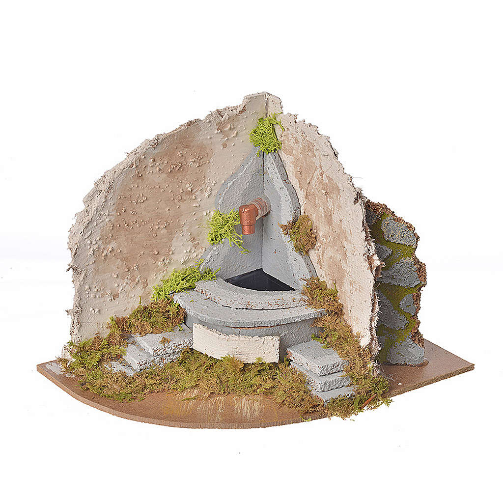 Nativity fountain with pump, corner, 20x14x15cm 4